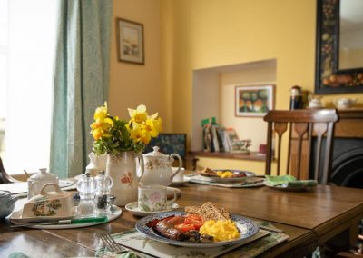 A hearty breakfast at Manor Farm B&B in Somerset